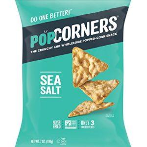PopCorners Sea Salt Snack | Gluten Free, Vegan Snack | (12 Pack, 7 oz Snack Bags)