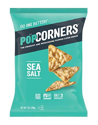PopCorners Sea Salt Snack   Gluten Free, Vegan Snack   (12 Pack, 7 oz Snack Bags)