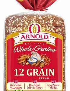 Arnold Whole Grains 12 Grain Sliced Bread, 24 Oz - 2 Loaves