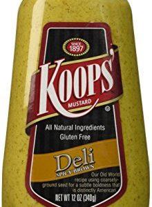 Koops Mustard squeeze Spicy Brown, 12 oz