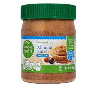 Simple Truth Almond Butter, Smooth, No Salt Added 12 Oz (Pack of 2)