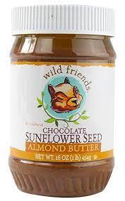 Wild Friends Chocolate Sunflower Seed Almond Butter 16 oz. Jar (Pack of 2)