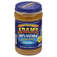 Adams 100% Natural Peanut Butter, Crunchy, 26 oz