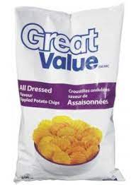 Great Value All Dressed Rippled Potato Chips 1 Large Bag