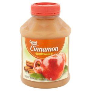 Great Value Cinnamon Applesauce, 48 oz