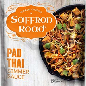 Saffron Road Simmer Sauce, Non-GMO, Gluten-Free, Halal, Kosher, Vegan, Pad Thai, 8 Count (Pack of 8)