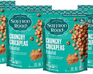 Saffron Road Organic Crunchy Chickpeas, Non-GMO, Gluten-Free, Halal, Falafel, 4 Count
