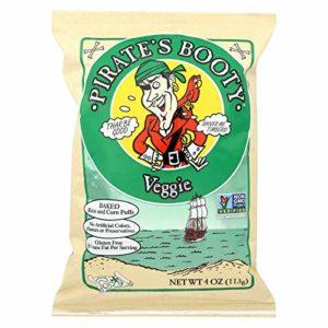Pirate Brands Booty Snacks - Veggie - Case of 12 - 4 oz.