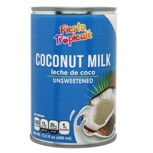 Coconut Milk, Unsweetened, Full-Fat, BPA-Free Canned, Dairy Free Without Preservatives, Great for Vegan, Paleo or Keto Recipes, Latte or for Yogurt - 13.5 oz. Cans (Count of 6) by Fiesta Tropicalé