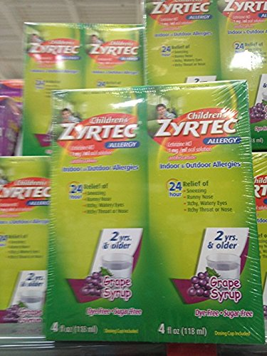 Zyrtec Allergy children's grape flavored 2x 4 oz