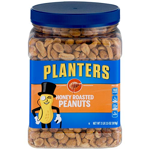 Planters Honey Roasted Peanuts (34.5 oz, Pack of 2)