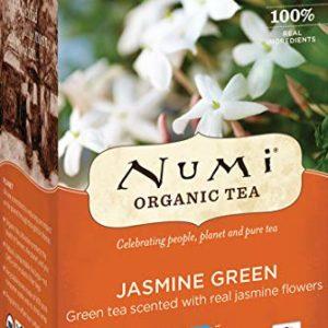 Numi Organic Tea Jasmine Green, 18 Count Box of Tea Bags (Pack of 3) (Packaging May Vary)