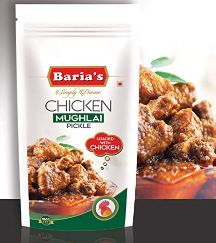 Baria's Chicken Mughlai Pickle, Halal Meat, Mughlai Recipe, Indian Chicken Pickle - 200 grams (7 oz)