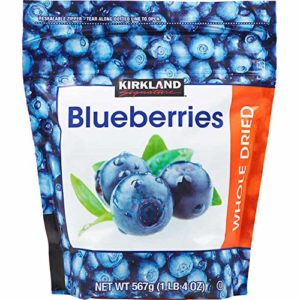 Kirkland Signature Whole Dried Blueberries: 2 Bags of 20 Oz