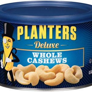 Planters Deluxe Whole Cashews, 8.5 oz Canister
