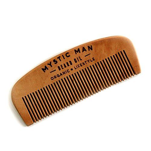Mystic Man Handmade Wooden Beard Comb - Fine Tooth Detangling Tool