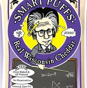 SMART PUFFS BAKED CHEESE PUFFS SNACK FOOD REAL WISCONSIN CHEDDAR 4.5 OZ
