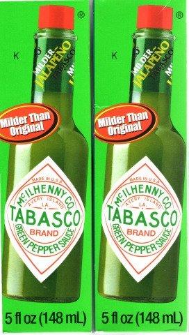 Tabasco Green Pepper Sauce, 5-ounce Bottle - Pack of 2