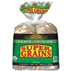 Alpine Valley Organic Bread, Super Grains (18 oz., 2 pk.)