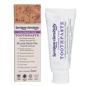 SprinJene White Boost Natural TM Sensitivity Fluoride Free Toothpaste