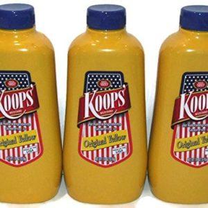 Koops Mustard Original Yellow, 12 Ounce (Pack of 3)