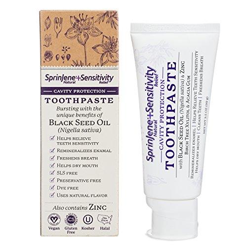 SprinJene Natural TM Sensitivity Cavity Protection Toothpaste