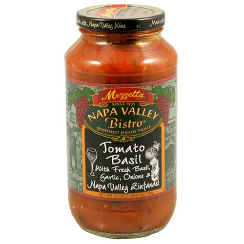 Mezzetta Napa Valley Homemade Tomato and Sweet Basil Sauce, 25 Ounce (Pack of 6)