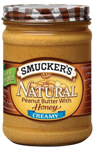 Smucker's Natural Peanut Butter with Honey, 16-Ounce (Pack of 6)