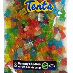 Tenta Gummi Bears - Halal, Kosher, Gluten Free Gummy Candy - 2.205 LB (1 Kg)