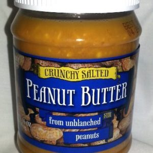 Trader Joe's Crunchy Salted Peanut Butter From Unblanched Peanuts