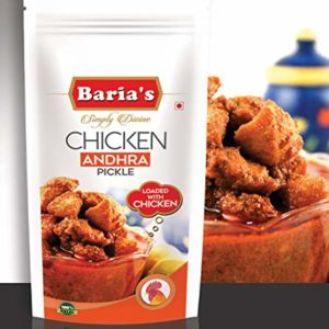 Baria's Chicken Andhra Pickle, Halal Meat, Thokku, Andhra Recipe, Indian Chicken Pickle - 200 grams (7 oz)