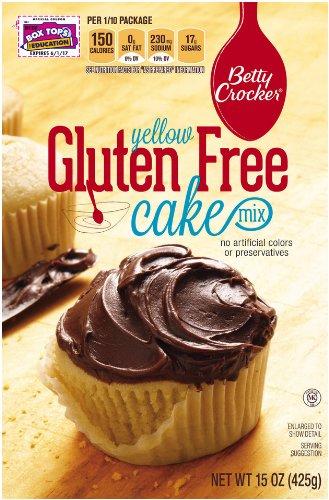 Betty Crocker Baking Mix, Gluten Free Cake Mix, Yellow, 15 Oz Box (Pack of 6)
