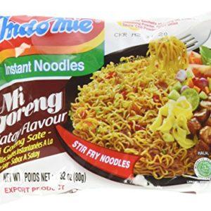 Indomie Mi Goreng Instant Halal Noodles, Satay, 2.82 Ounce, 30 Count