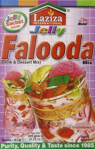Laziza Falooda Mix Jelly, 235-Gram Boxes (Pack of 6)