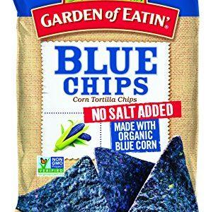 Garden of Eatin No Salt Added Blue Corn Tortilla Chips, 8.1 oz. (Pack of 12)