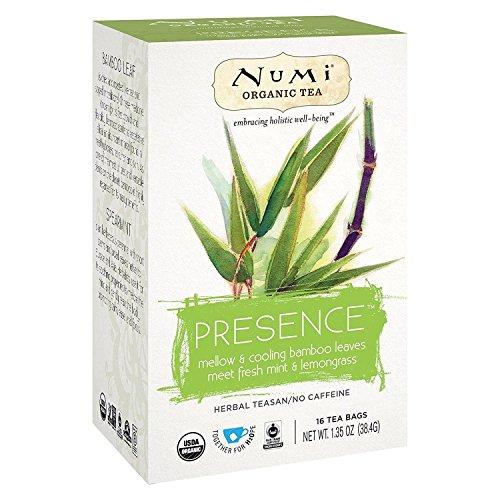NUMI TEA, Herb Tea, Og2, Presence, Pack of 6, Size 16 CT, (Gluten Free GMO Free 95%+ Organic)