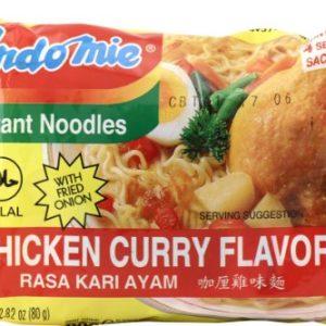 Mi Rasa Kari Ayam (Chicken Curry Flavor Instant Noodles) - 2.82oz (Pack of 60)