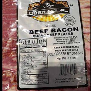 Deen Halal Sliced Beef Bacon 5lb