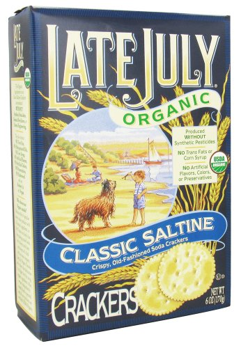 Late July Organic - Classic Saltine Crackers - 6 oz (pack of 2)