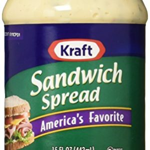 Kraft, Sandwich Spread, 15oz Plastic Jars (Pack of 3)