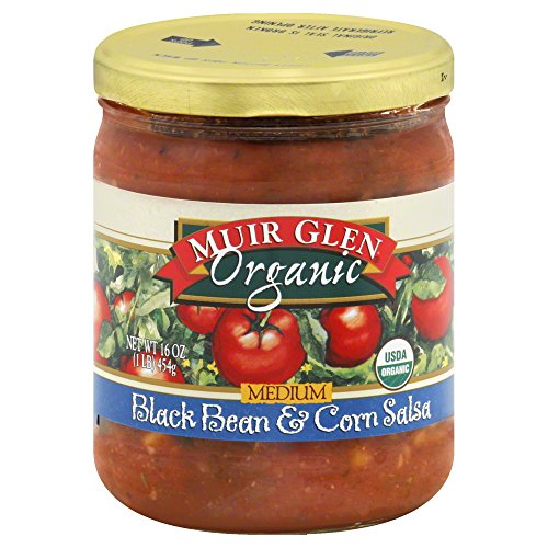 Muir Glen Organic Medium Salsa Black Bean and Corn -- 16 fl oz