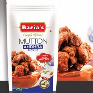 Baria's Mutton Andhra Pickle, Halal Meat, Thokku, Andhra Recipe, Indian Mutton Pickle - 200 grams (7 oz)