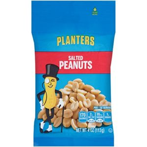 Planters Salted Peanuts (4 oz Pack of 12)
