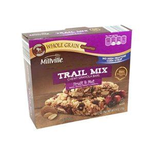 MILLVILLE Trail Mix Granola Bars (6 count) (Fruit & Nut)