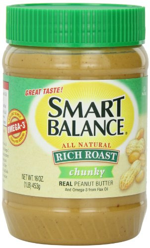 Smart Balance Rich Roast Peanut Butter, Chunky, 16 Ounce (Pack of 12)
