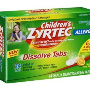 Zyrtec Children's Allergy Orally Disintegrating - 24 Tablets, Pack of 3