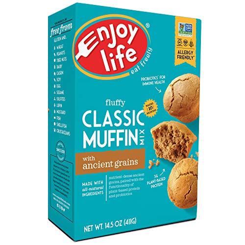 Enjoy Life Baking Mixes, Soy free, Nut free, Gluten free, Dairy free, Non GMO, Vegan, Muffin Mix, 14.5 Ounce Box