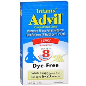 Advil Infants Concentrated Drops White Grape Flavored Dye-Free 0.50 oz ( Pack of 2)