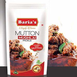 Baria's Mutton Mughlai Pickle, Halal Meat, Mughlai Recipe, Indian Mutton Pickle - 200 grams (7 oz)