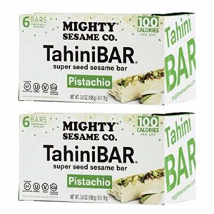 Mighty Sesame TahiniBars With Pistachio (2 Pack Total 12 Bars)